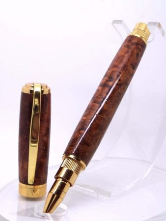 Amboyna Burr Rollerball On Stand