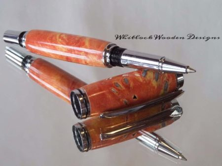 Buck Eye Burl Rollerball Pen