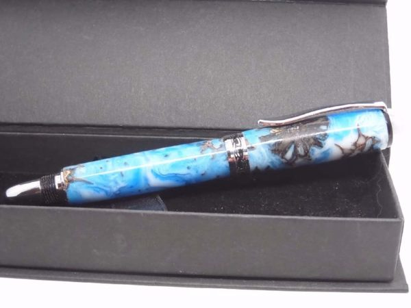 Chatsworth Sky Blues Rollerball Pen With Gift Box