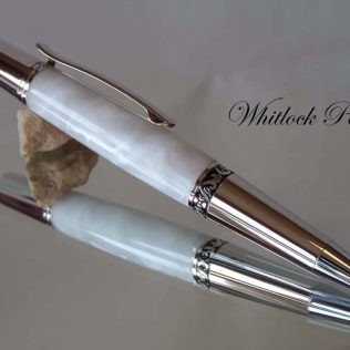 Pearl White Executive Ballpoint Pen