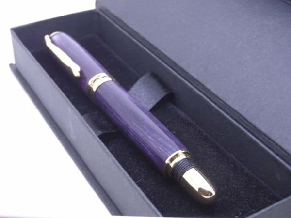 Purple Cosmic fountain pen and gift box
