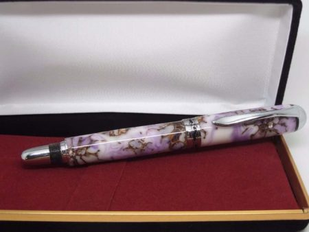 Snow Blossom & Lilac Rollerball Pen