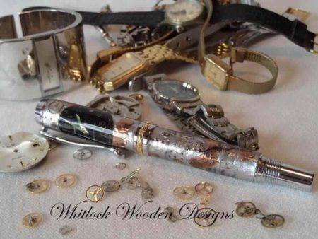 Steampunk Watch Parts Executive Rollerball Pen