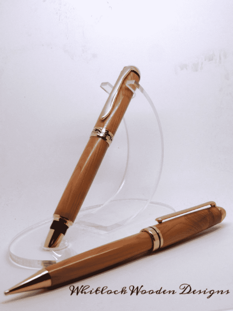 Unique Yew Wood Fountain Pen And Pencil Set