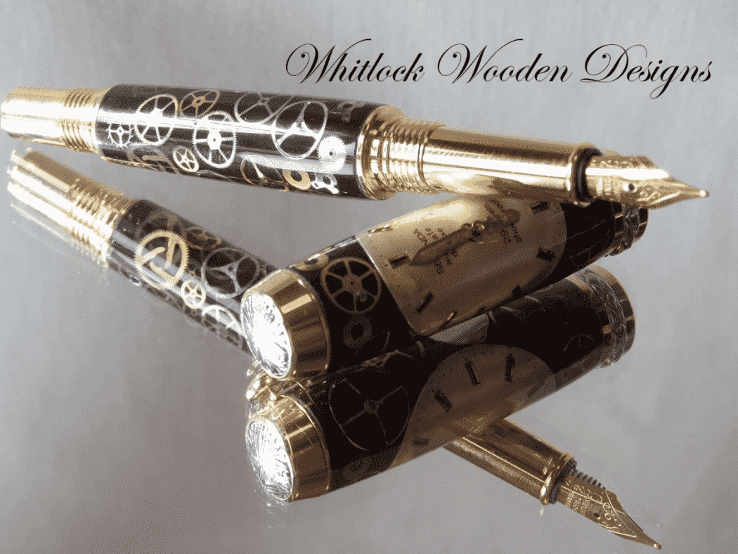 A Watch Parts Fountain Pen Handcrafted In UK | Whitlock Pens