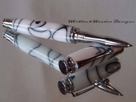 White & Black Rollerball Pen