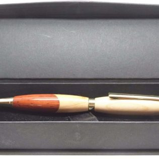 Slimline Cherry & Padauk Wood Pen