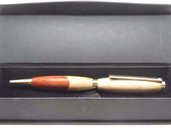 A Cherry and Padauk Ball Pen With Gift Box