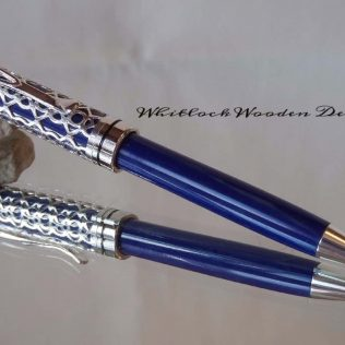Blue Lattice Ballpoint Pen