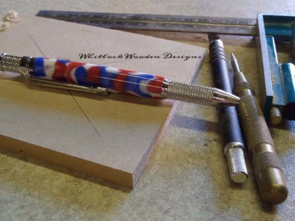 Chrome GT Knurled Union Jack Handmade Ball Pen And Marking Out Tools