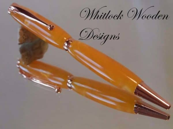 Copper Slimline Twist Ballpoint Pen