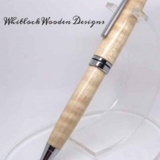 Curly Maple Twist Ballpoint Pen