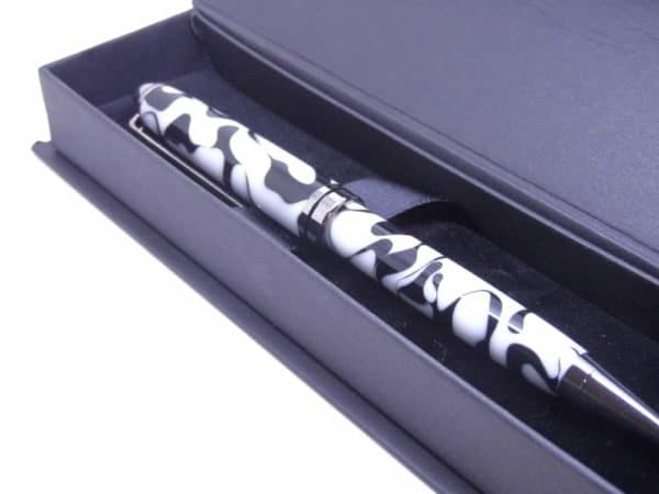 European Black And White Ball Pen With Gift Box