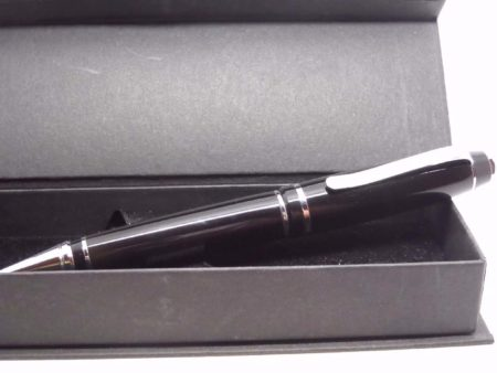 Handmade Black Acrylic Cigar Pen