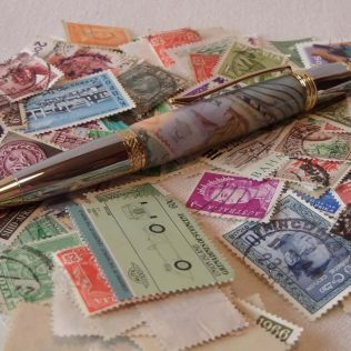 Novel Postage Stamps Ballpoint Pen