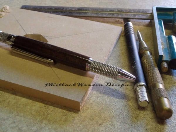 Indian Rosewood Wooden Pen And Marking Out Tools