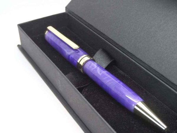 LILAC BALLPOINT PEN WITH GIFT BOX