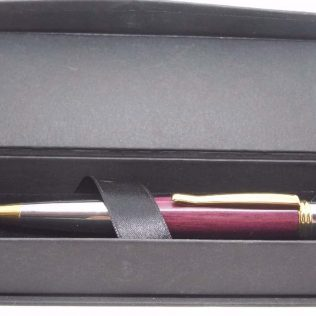 Polished Chrome Purpleheart Pen