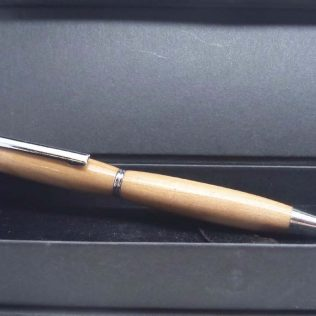 Apple Wood Slimline Twist Pen