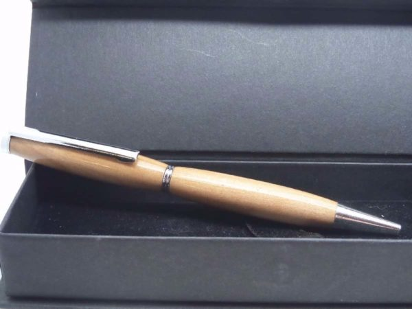 Slimline Apple Wood Ink Pen With Gift Box