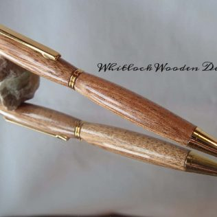 Slimline Wooden Pen With African Mahogany