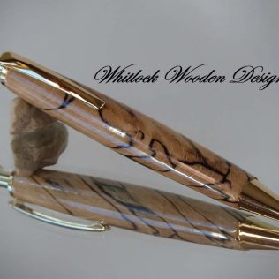 Spalted Beech Retractable Ballpoint Pen