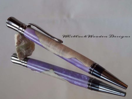 Luxury Hybrid Burl Violet Pen