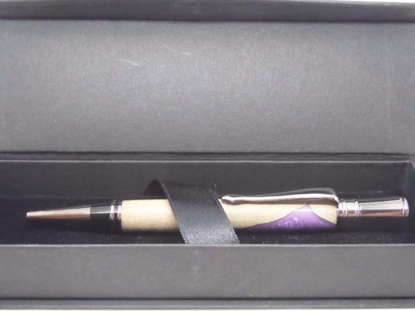 Violet and Burr Wooden Ball Pen Gift Box