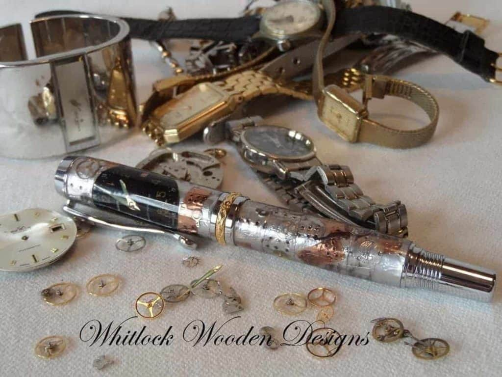 Watch Parts Executive Rollerball Pen With Steam Punk Design