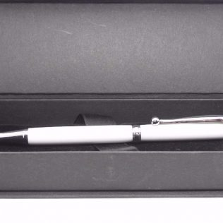 White Corian Twist Ballpoint Pen