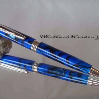 Streamline Blue Black Ballpoint Pen