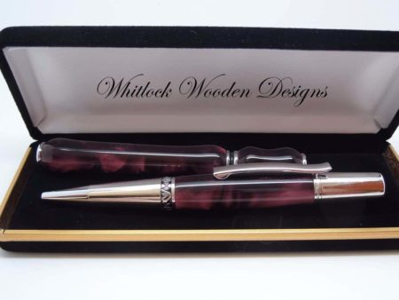 Burgundy Designer Ball Pen Gift Set