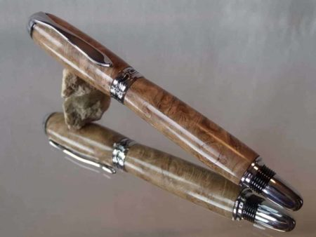 Chatsworth Burr Oak Rollerball Pen Capped