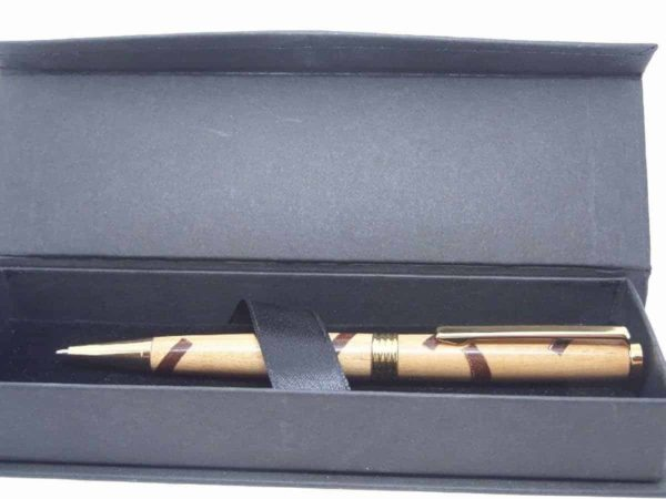 Cherry Sapele Segmented Wooden Ballpoint Pen With Gift Box