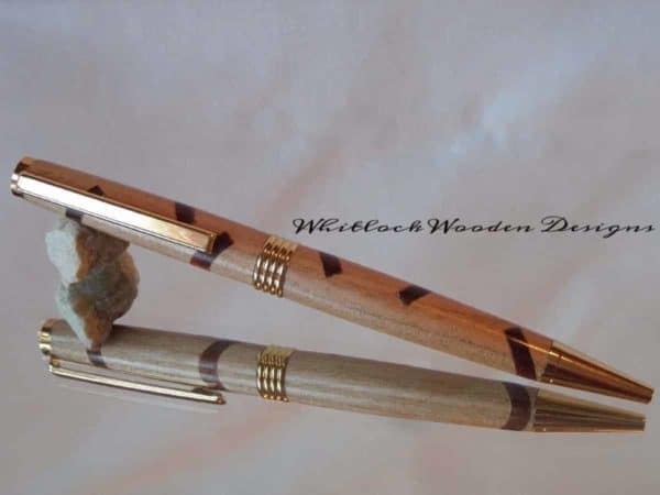 Cherry and Sapele Segmented Streamline Pen