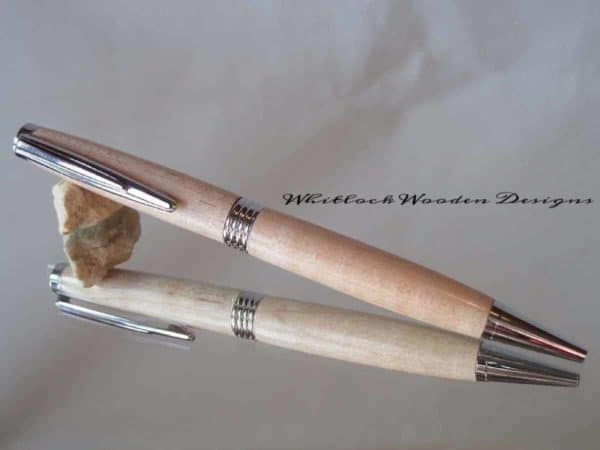 Curly Maple with Chrome Streamline Pen