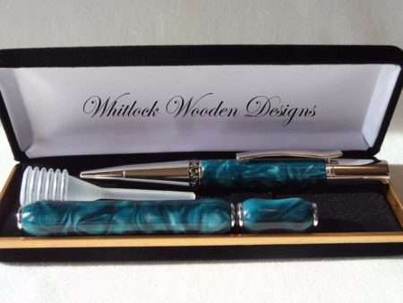 Designer Turquoise Ball Pen Gift Set