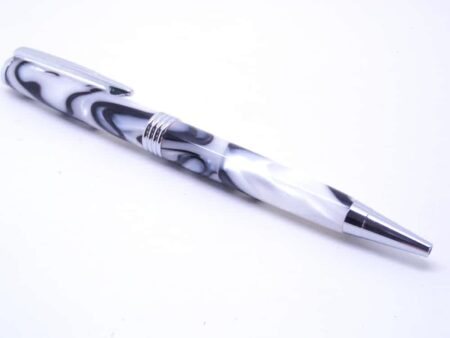 Handmade Black White Pen