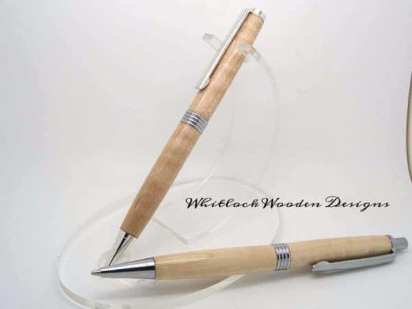 Handmade Pen And Pencil Set Curly Maple