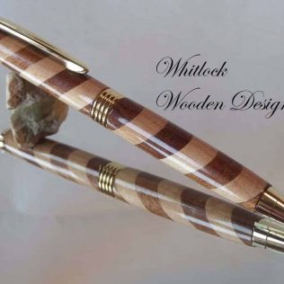 Handmade Wooden Barber Pole Pen