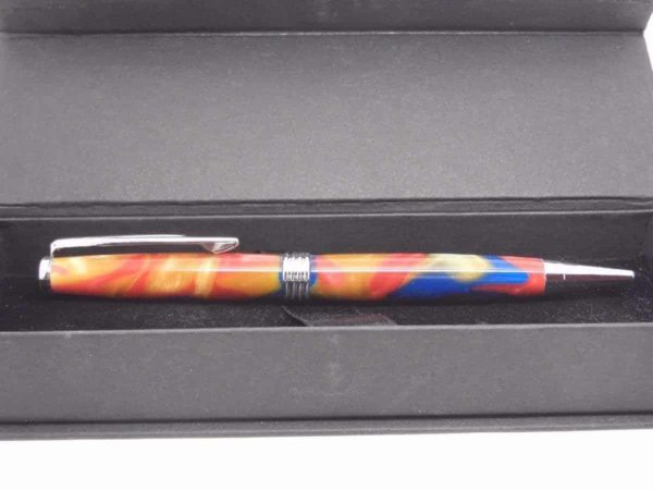 Multi Coloured Handmade Ball Pen And Presentation Box