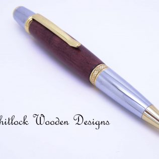 Gold Chrome Purple Heart Pen
