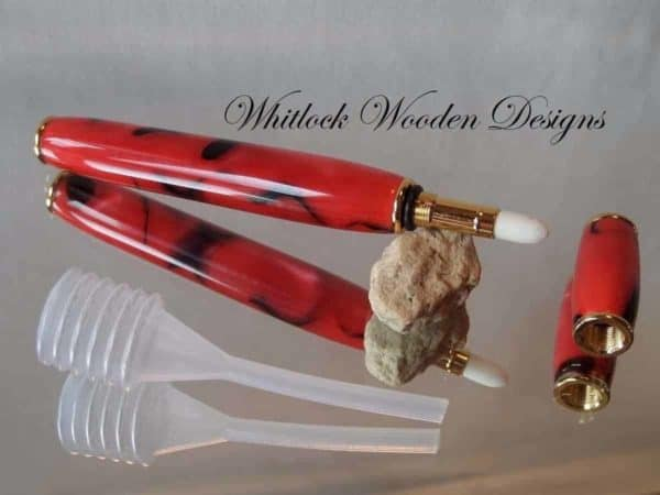Red and Black Perfume Pen Applicator