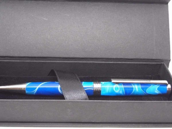 Royal Sky Blue Handmade Ball Pen And Presentation Box