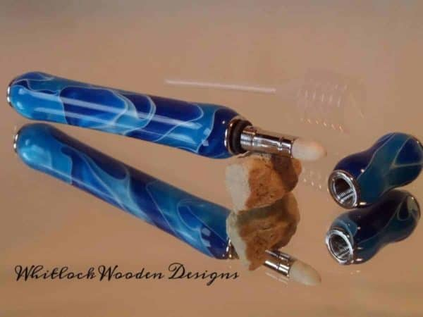 Royal and Sky Blue with White Ribbons Perfume Pen Applicator