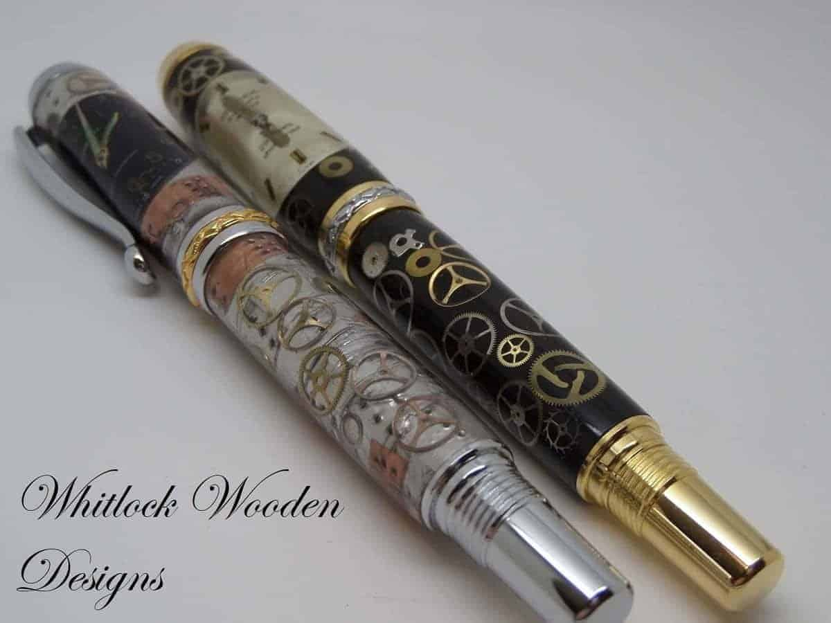 Handmade Watch Part Rollerball And Fountain Pens