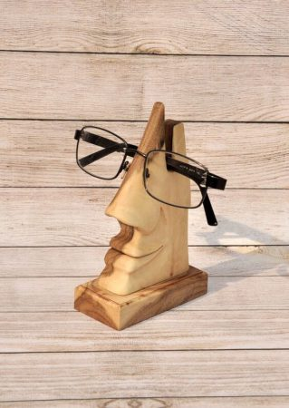 handmade stand for eyeglasses