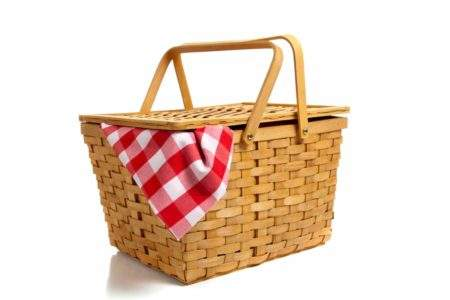 Willow picnic basket for 9th wedding anniversary ideas