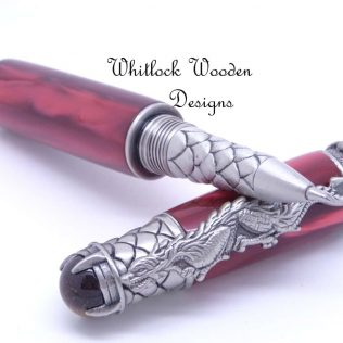 Fiery Red Dragon Rollerball Pen