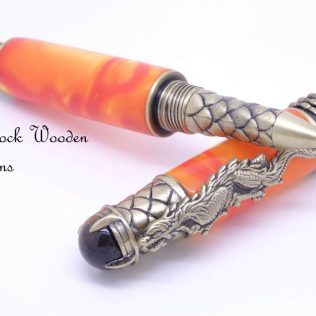 Golden Chinese Dragon Rollerball Pen